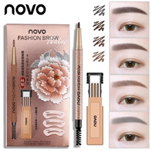 Waterproof EYEBROW PENCIL + 3 of replacement / 4 colors / easy N quick / natural makeup / k-beauty