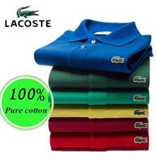 【Buy 3 Free Shipping】Lacost e t-shirt  men shirt Polo shirt 100% cotton comfortable shirt Ventilatio
