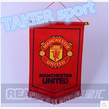 Manchester clubs Arsenal Chelsea Liverpool Manchester United team fans Pentagon pennant flags--oz_TA
