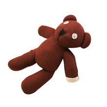 1 Piece 9inch  Mr Bean Teddy Bear Animal Stuffed Plush Toy, Brown Figure Doll Child Christmas Gift T