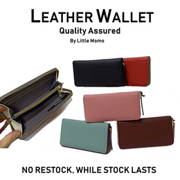 LITTLE MOMO ◆ GENUINE LEATHER WALLET WRISTLETS ◆ FREE Q-EXPRESS SHIPPING