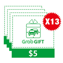 Grab $65 E-Voucher (13 x $5)
