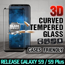 Hion 3D Curved Tempered Glass★NEW! Galaxy Note 9/8/S9/S8/Plus/iPhoneX/8/7/6/Plus/S7/Edge/A8/2018/G7