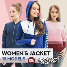 [3Second] Women - Jacket - Sweater - Hoodie - 19 Models - Free Shipping