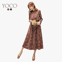 YOCO - Vintage Floral Dress-172285-Winter