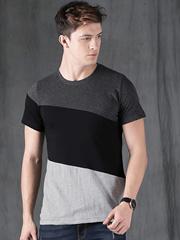 Gray side Panal Tshirt
