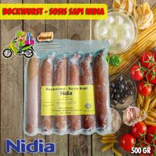 ( FREE SHIPPING JABODETABEK ) Nidia Beef Sosis Bakar Bockwurst 500gr