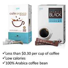 Cafe Arabica Low calories 100% Arabica coffee bean Premium 3 in 1 Instant Coffee or Black