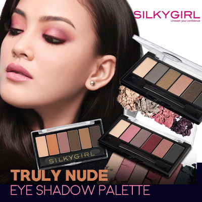 SILKYGIRL TRULY NUDE EYE SHADOW PALETTE | 2 COLORS