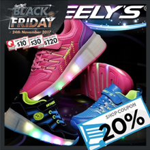 [WHEELYS] ★New Arrivals★ Women Men Children Kids LED ROLLER Shoes 19 kinds / Running Shoes / Christmas Gift