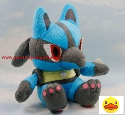"New 7.5/"" 19CM Lucario Pokemon Cute Soft Plush Toy Doll Kids Gift"