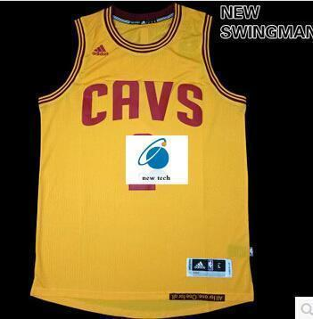 newest collection 4764d dbe37 New Swingman Cleveland Cavaliers on the 2nd text yellow jersey basketball  clothes