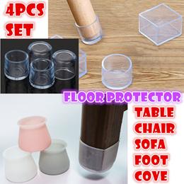 Elasticity Anti-slip table chair sofa foot cover floor protector silicon leg foot mute mat 4 pcs