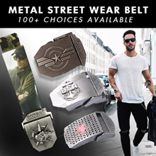 ★ METAL STREET WEAR BELT ★ 100+ CHOICES ★ GREAT FOR SCHOOL /  TRAVEL BAG / ARMY / SAF / SCOOTER