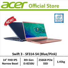 Acer Swift 3 SF314-54 Thin and Light Narrow Bezel Design Laptop - 8th Generation i5 Processor