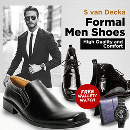 S van Decka Shoes - Formal Men Shoes - High Quality and Comfort- Flat Price FREE GIFT WALLET / WATCH