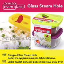 Lock n Lock - RICE GLASS CONTAINER-410ml 2Pcs