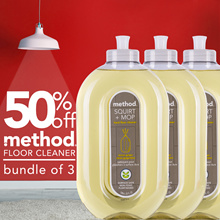 50% OFF BUNDLE OF 3 method floor cleaner | lemon ginger scent | limited quantities | made in USA