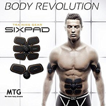 MTG SIX PAD Abs Trainer EMS Muscle Stimulator Body Fitness Training Slimming Massage
