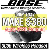 [MAKE $380!]Bose QC35 QuietComfort 35 NC Wireless Headphones Free warranty Imported set