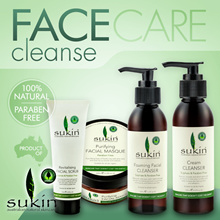 [Sukin Organics Australia] Face - Cream Cleanser 125ml | Foaming Facial Cleanser 125ml | Facial Scru