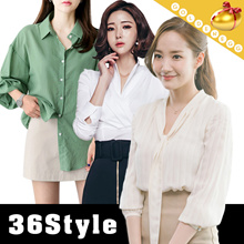 ♥ Korean Style Fashion Tops♥Short n Long Sleeve Shirt / Casual Blouses / Plus Size/ Secretary Kim