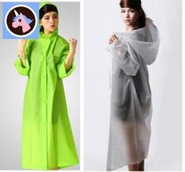 Top Fabric Rainwear Fashion EVA Translucent Adult Women Men Raincoats Poncho Lovers Rain Coat Single