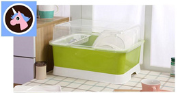 Large family home in combination with cover Drain kitchen dish rack dishes cups plastic cutlery cupb