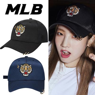 TWICE X MLB  TWICE DAHYUN CAP   BLACK TIGER   Piercing Cap ae984c6aa6f