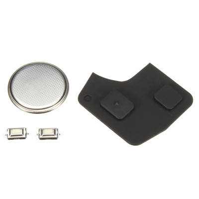 2 Button Remote Key Fob Case Rubber Pad Repair Kit For Toyota Rav 4 Yaris  MR2