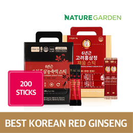 [200 STICKS] Korean Red Ginseng Extract Stick 100 Sticks 1+1 / Best Sellers/ Improving Immunity