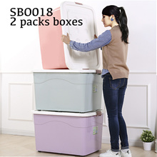 2-4 big boxes set home storage kitchen organiser toy book clothes snack organizing storage container