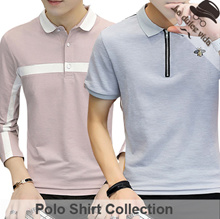 New Arrivals ●Men Polo Shirts● Design By Korea / Work Shirts / Office Shirts / Plus Size / Sleeve