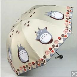 Anime My Neighbor Totoro umbrella vinyl umbrellas UV sunscreen three folding umbrellas female folded