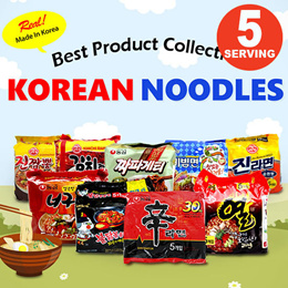 ★Instant Noodles★Ramen Jin Ramyun 5ea Korean Food Spicy Mild kfood K-Fresh SINGSINGMART