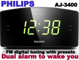Philips AJ3400/12 Clock Radio