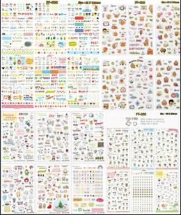 Korean Diary Stickers Scrapbook Craftbook Decoration Sticker 2