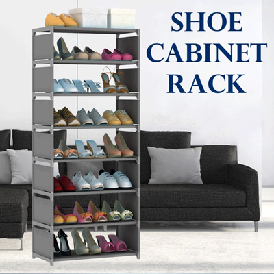 Qoo10 shoe cabinet rack multi tier convenient maximize space saving stor furniture - Shoe cabinet for small spaces concept ...