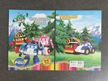 Paw Patrol / Pokemon / Robocar Poli / My Little Pony Colouring Book with Stickers
