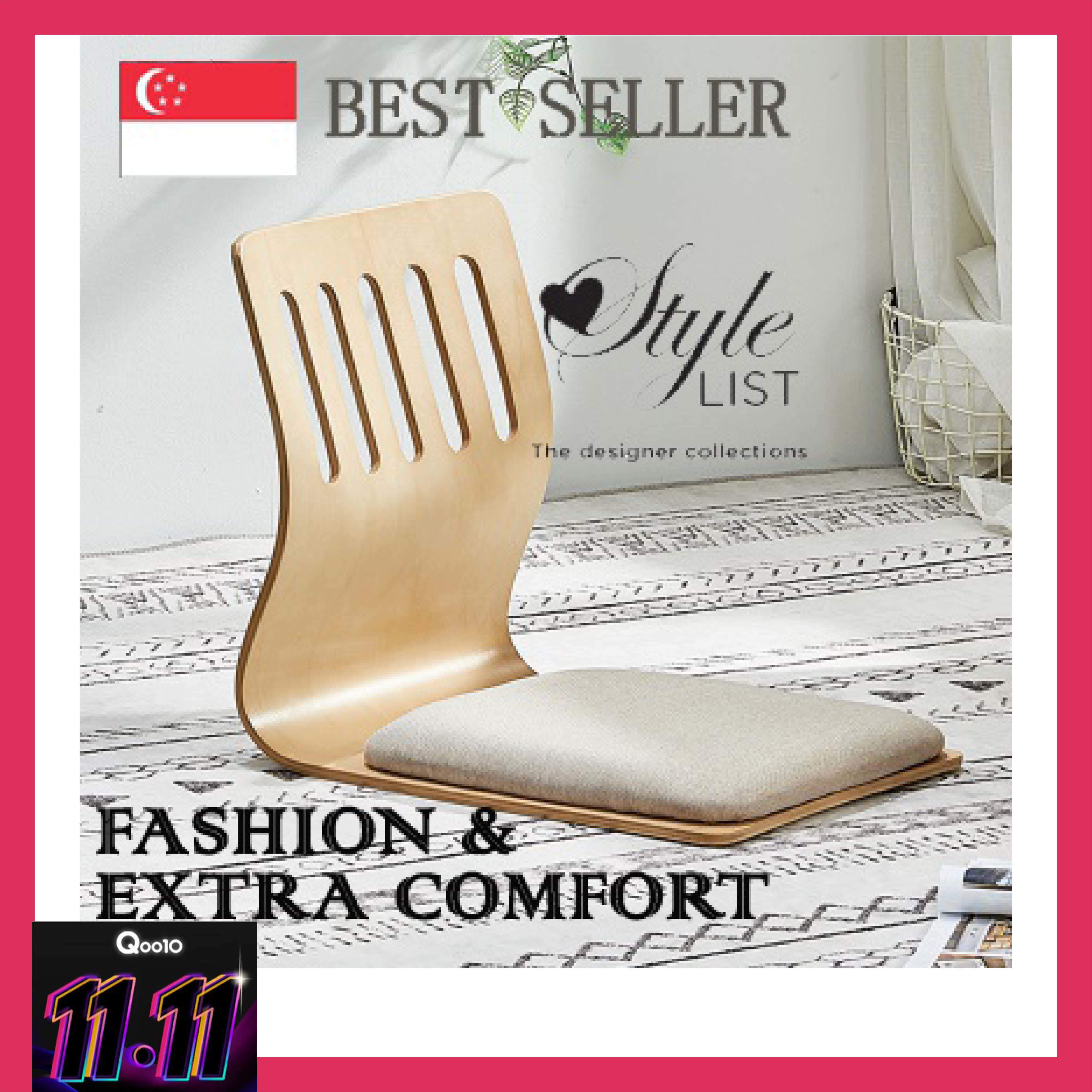 Padded Foldable Floor Seating Padded Floor Chair with Back Support Thick Seat Cushion Lazy Lounge Sofa 咖啡