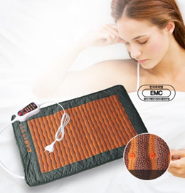 CAS Clay Ceramic Double Heating Pad/ Portable Warm Pad/Time Temperature Control