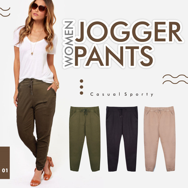 New Collection! Women Jogger Pants Deals for only Rp82.000 instead of Rp82.000