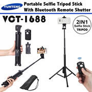 Portable Mini Tripod and selfie monopod YUNTENG VCT-1688 with Bluetooth Remote for Phone and Camera