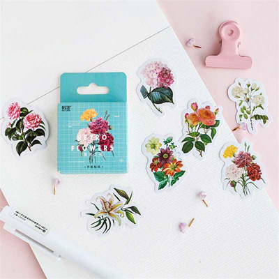 Shop Creative Flowers Decorative Diy Diary Stickers Post It Kawaii Planner Scrapbooking Sticky Stati