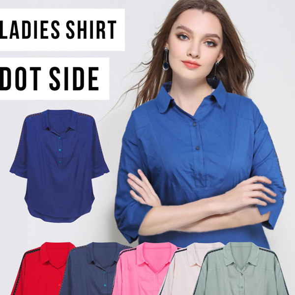 New Collection! Ladies Shirt Dot Side Deals for only Rp79.000 instead of Rp79.000