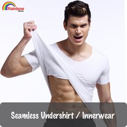 Seamless Undershirt / Innerwear / Underwear / T-Shirt / Underlayer★Thin Comfortable Premium Material