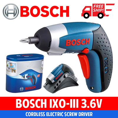 qoo10 bosch ixo iii 3 6v professional cordless electric screwdriver lithium tools. Black Bedroom Furniture Sets. Home Design Ideas
