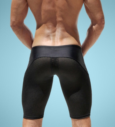502e905595 Sexy Slim Fitted Mens Tight Shorts Casual Leisure Summer Men Workout Shorts  Skinny Crossfit Fight S