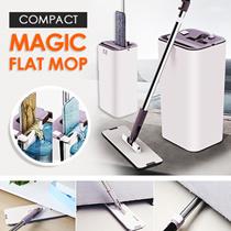 COMPACT MAGIC FLAT MOP/ HANDS FREE/ DURABLE/ SLICK DESIGN/ ABSORBENT MOP CLOTHS