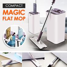 COMPACT MAGIC FLAT MOP/ HANDS FREE/ DURABLE/ SLEEK DESIGN/MICROFIBER CLOTH//WATER ABORBENT